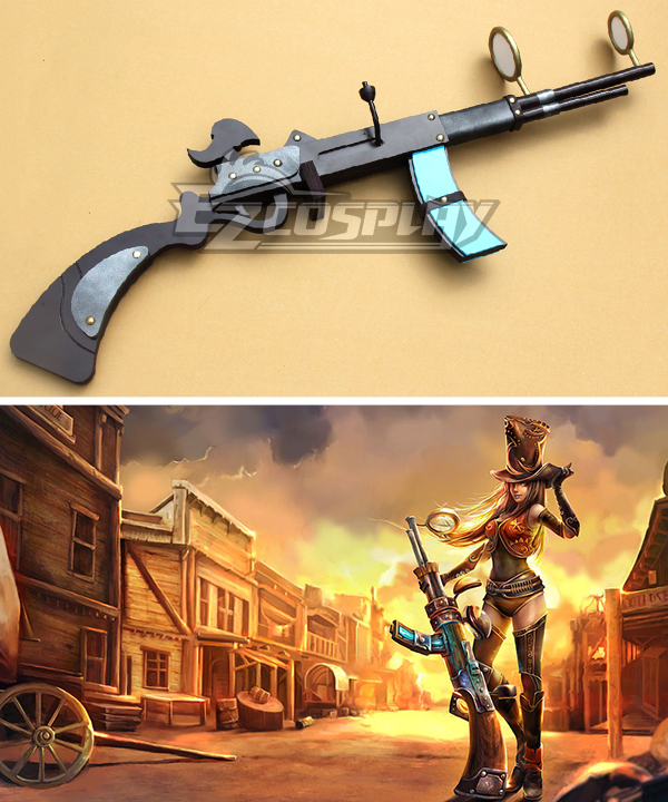 League of Legends Sheriff Caitlyn The Sheriff of Piltover Sniper Rifle Gun Cosplay Weapon Prop