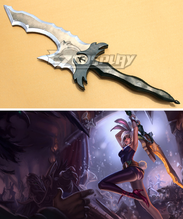 League of Legends Battle Bunny Riven The Exile Sword Cosplay Weapon Prop