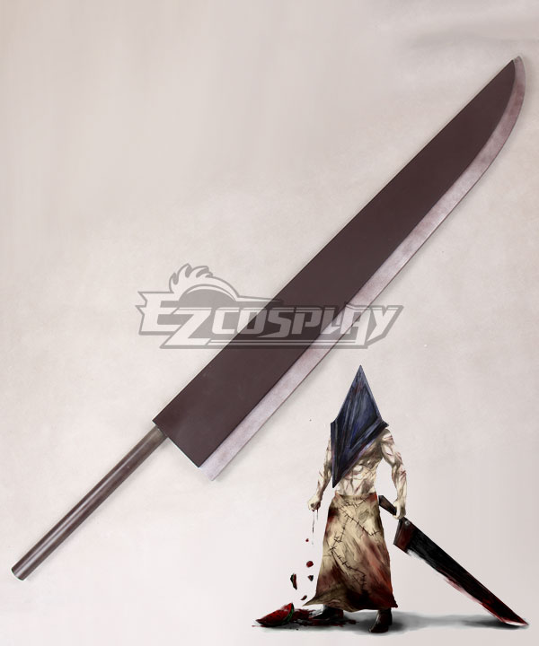 Silent Hill 2 Pyramid Head Red Pyramid Thing Sword Cosplay Weapon Prop None