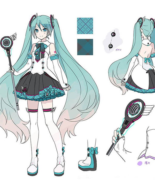 Anime Costumes ECW1131 Vocaloid Hatsune Miku Magical Mirai 2017 Cosplay Weapon Prop