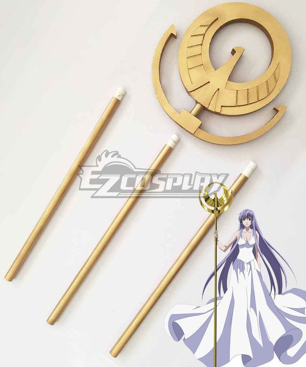 Saint Seiya Knights of the Zodiac Athena Staff Cosplay Weapon Prop None