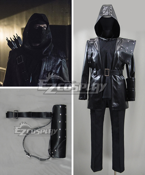DC Comics Green Arrow League of Assassins Dark Archer Malcolm Merlyn Leather Cosplay Costume