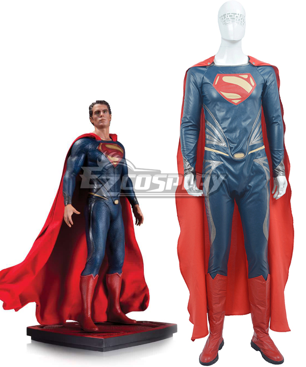 DC Comics Batman v Superman Dawn of Justice Clark Kent Superman Man of Steel Cosplay Costume