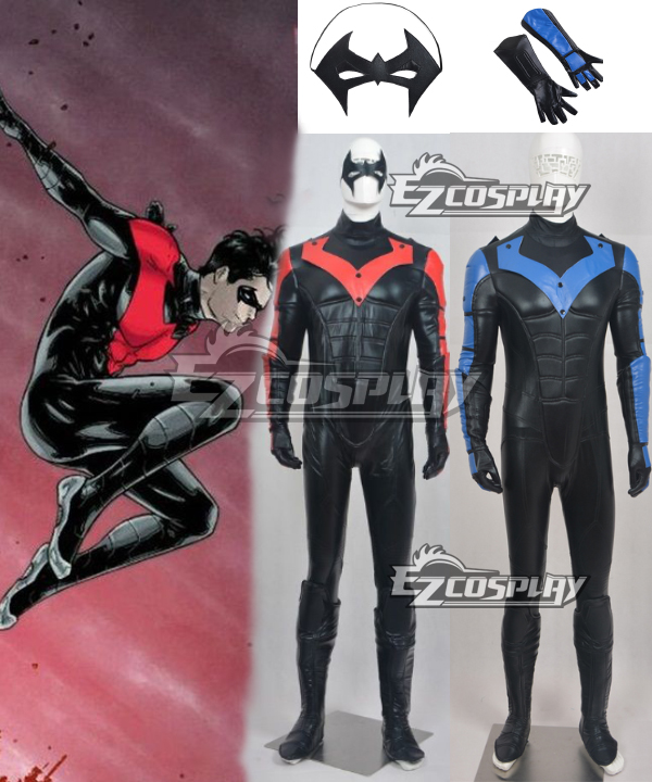 DC Comics Batman: Arkham City Nightwing Cosplay Tights Men Costume None