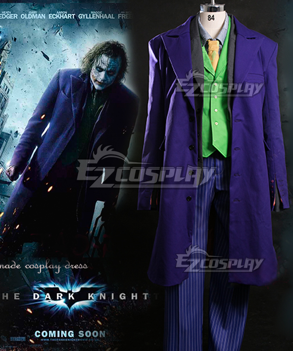 DC Comics Batman The Dark Knight The Joker Full Suit Cosplay Costume None