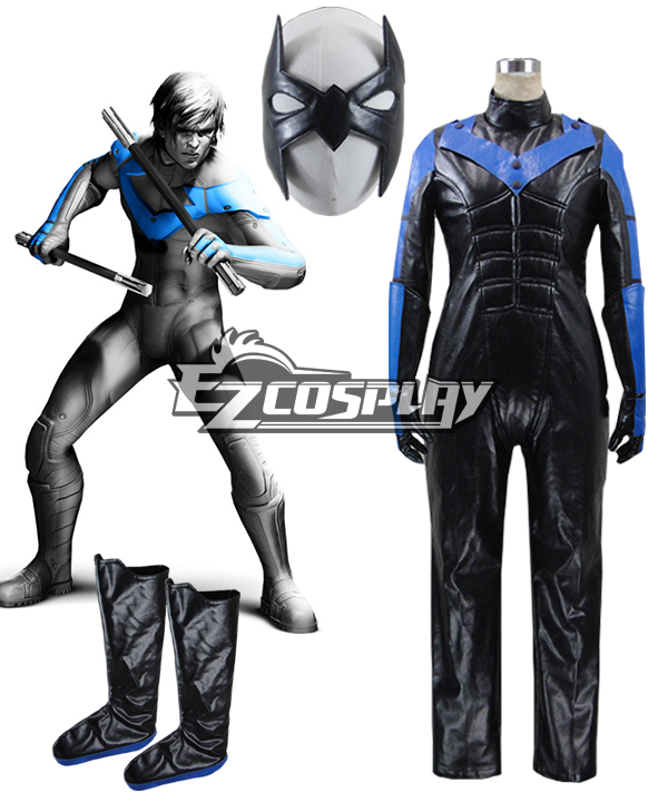 DC Comics Batman Arkham City Nightwing Cosplay Costume None