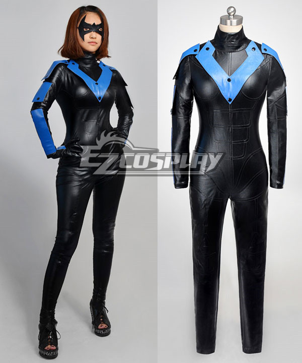 DC Comics Batman Arkham City Young Justice Nightwing Cosplay Costume None