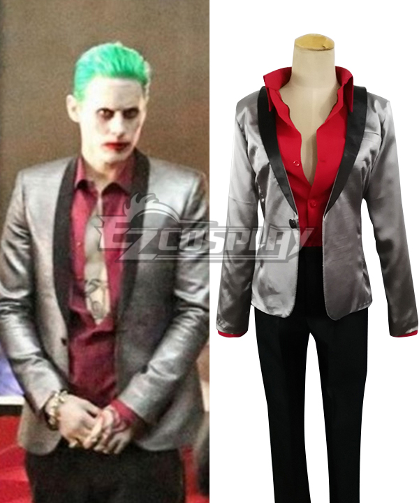 DC Comics Batman Suicide Squad Joker Cosplay Costume None