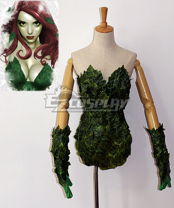 DC Comics Batman Poison Ivy Pamela Lillian Isley Cosplay Costume - Including Boots EDCG052