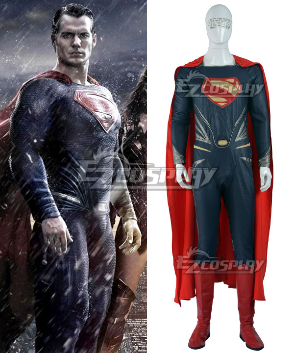 DC Comics Batman v Superman: Dawn of Justice Superman Clark Kent Cosplay Costume(Including Boots) None