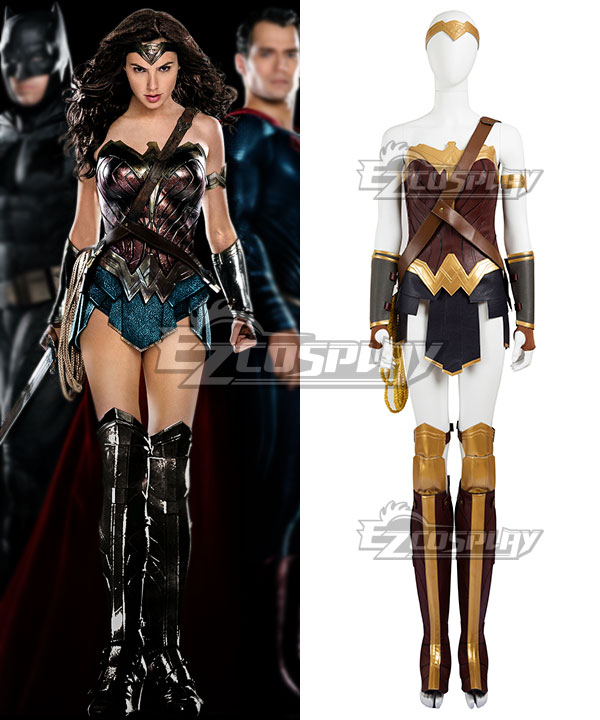 DC Batman v Superman: Dawn of Justice Wonder Woman Diana Prince Cosplay Costume