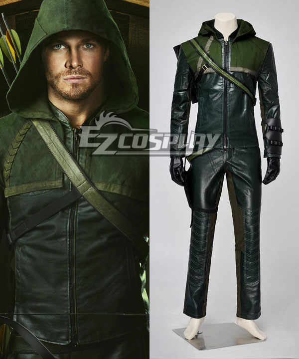 DC Comics Green Arrow Oliver Queen Cosplay Costume