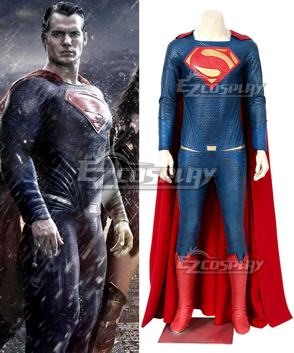DC Batman v Superman Dawn of Justice Justice League Movie Superman Kal-El Clark Kent Cosplay Costume None