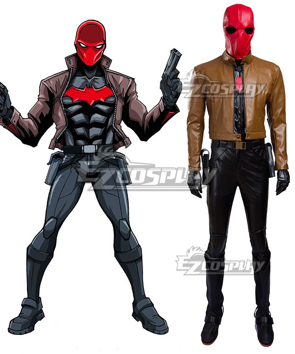 DC Batman Red Hood Cosplay Costume(Including Boots) EDCG076