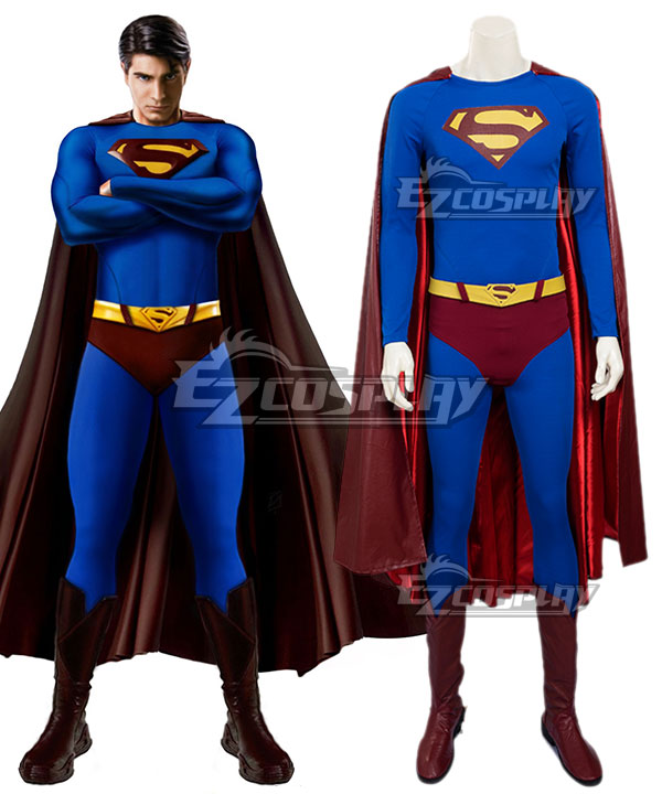 DC Superman Returns Superman Kal-El Clark Kent Cosplay Costume - Including Boots EDCG079