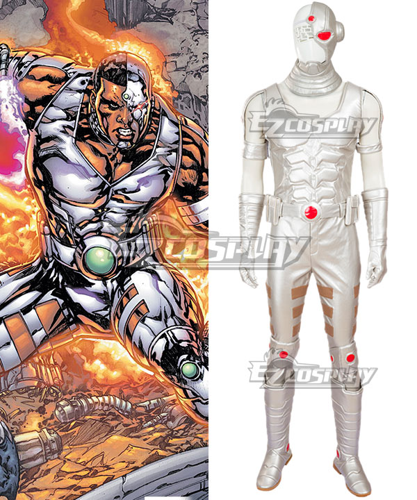 DC Comics Cyborg Victor Stone Cosplay Costume - Including Boots