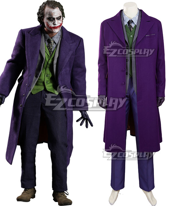 DC The Dark Knight Batman Joker B Cosplay Costume - Woolen coat None