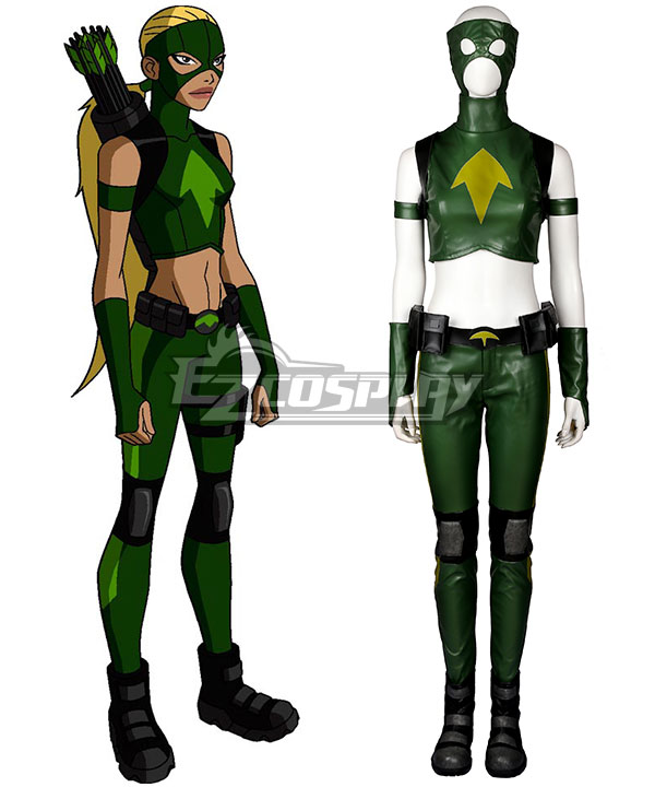 DC Young Justice Artemis Crock Cosplay Costume - Including Boots EDCG102