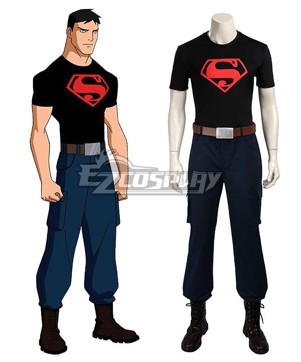 DC Young Justice Superboy Conner Kent Cosplay Costume - Including Boots EDCG103