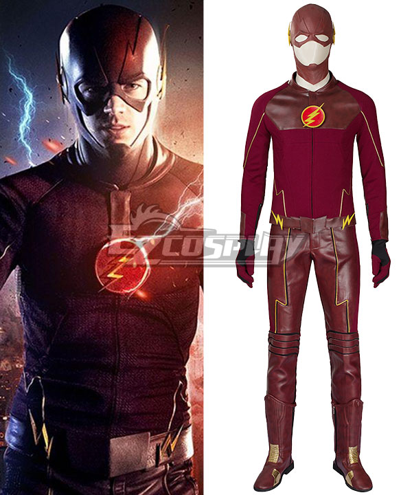 DC The Flash Season 1 Bartholomew Henry Barry Allen Cosplay Costume - Including Boots EDCG108