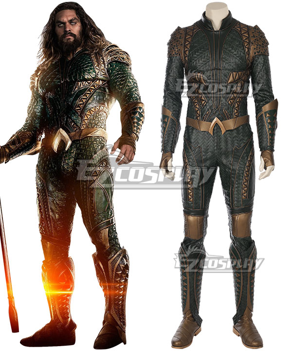DC Justice League Movie Aquaman Arthur Curry Cosplay Costume - Not Boots EDCG126