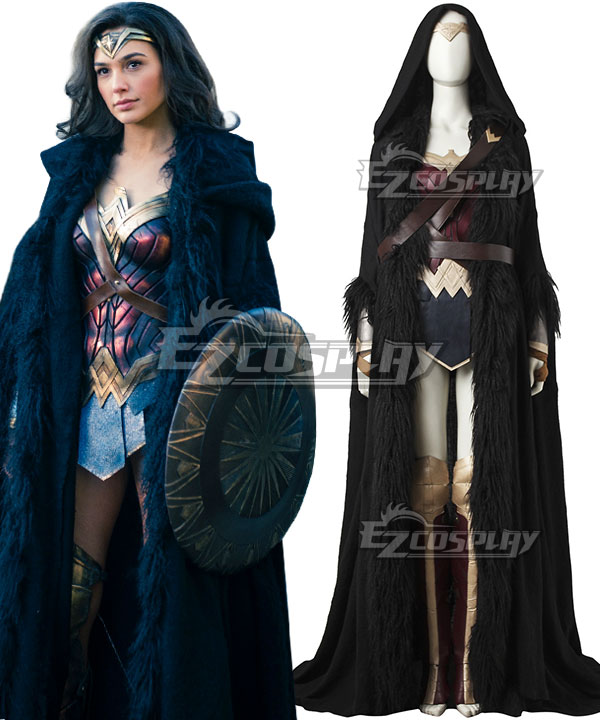 DC Wonder Woman 2017 Movie Diana Prince Cloak Cosplay Costume (Only Cloak, Belt, Strap)
