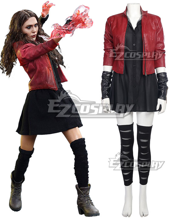 DC Comics Marvel Avengers: Age of Ultron Scarlet Witch Cosplay Costume(New Edition) None