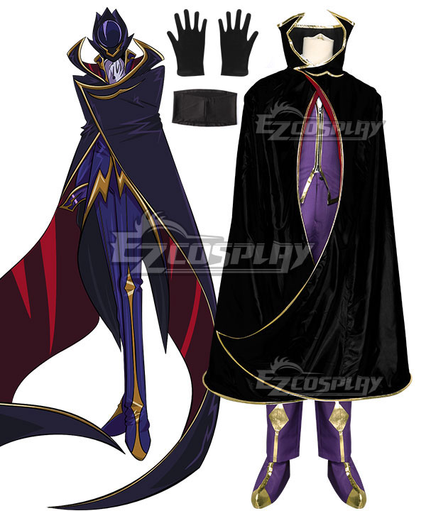 Code Geass Lelouch of the Rebellion Lelouch Lamperouge Lelouch vi Britannia Zero Cosplay Costume None