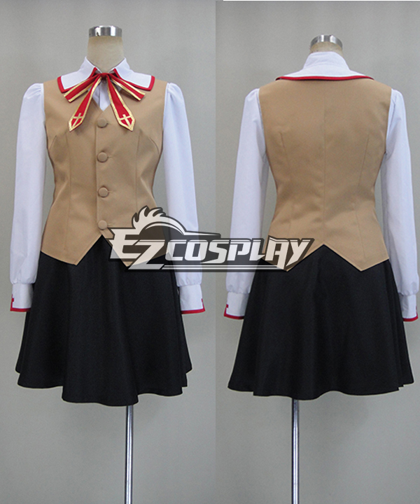 Fate Stay Night: Unlimited Blade Works UBW Rin Tohsaka Cosplay Costume (Without coat)  None