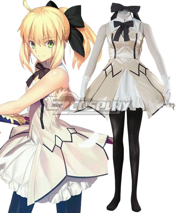 Fate Stay Night Artoria Pendragon Saber Lily Cosplay Costume None