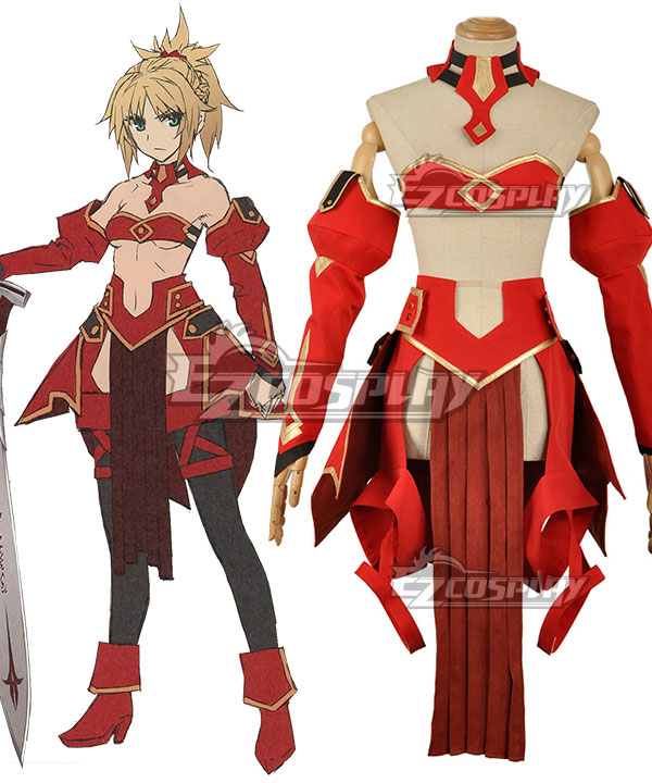 Fate Apocrypha Saber of Red Mordred Battle Suit Cosplay Costume None
