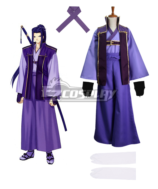 Fate Stay Night Unlimited Blade Works UBW Kojirou Sasaki Assassin New Sword Cosplay Costume - B Edition None