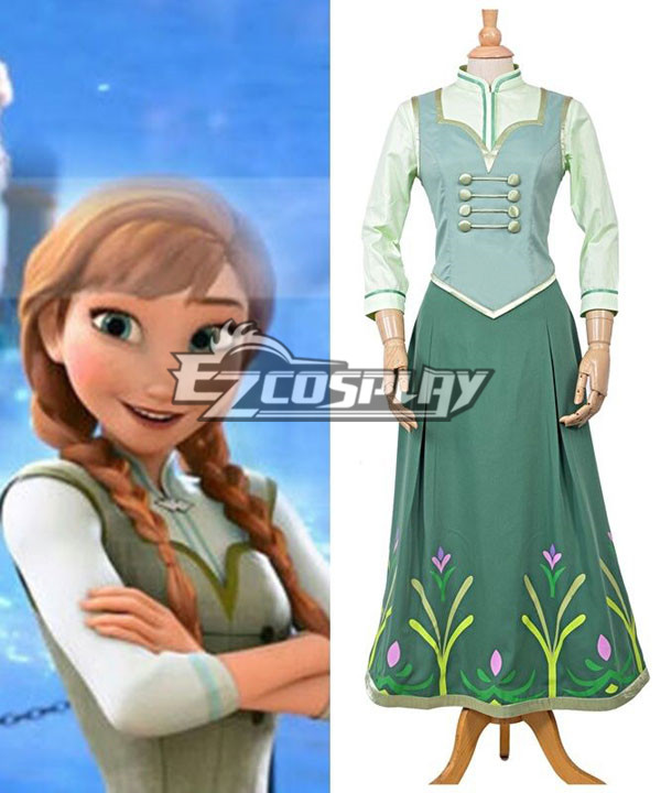 Frozen Fever Anna Princess Birthday Party Dress Cosplay Costume None