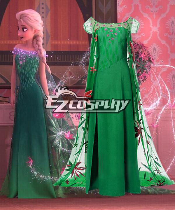 Disney Frozen Fever Queen Elsa Birthday Party Dress Cosplay Costume None