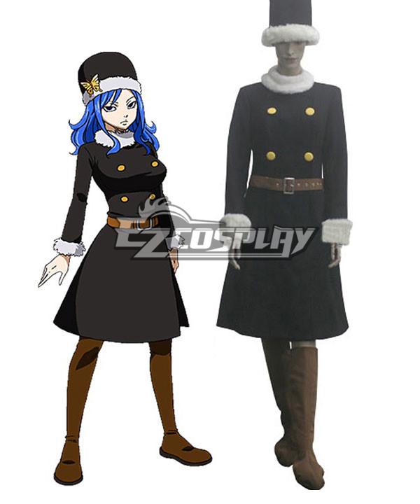 Fairy Tail Rain Woman Juvia Lockser After Seven Years Blue Lolita Dress Cosplay Costume