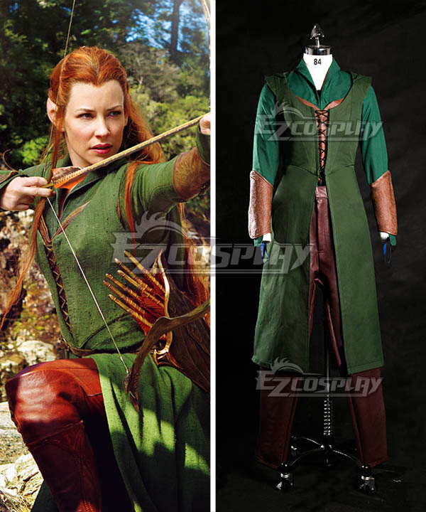 The Hobbit Desolation of Smaug Tauriel Cosplay Costume None