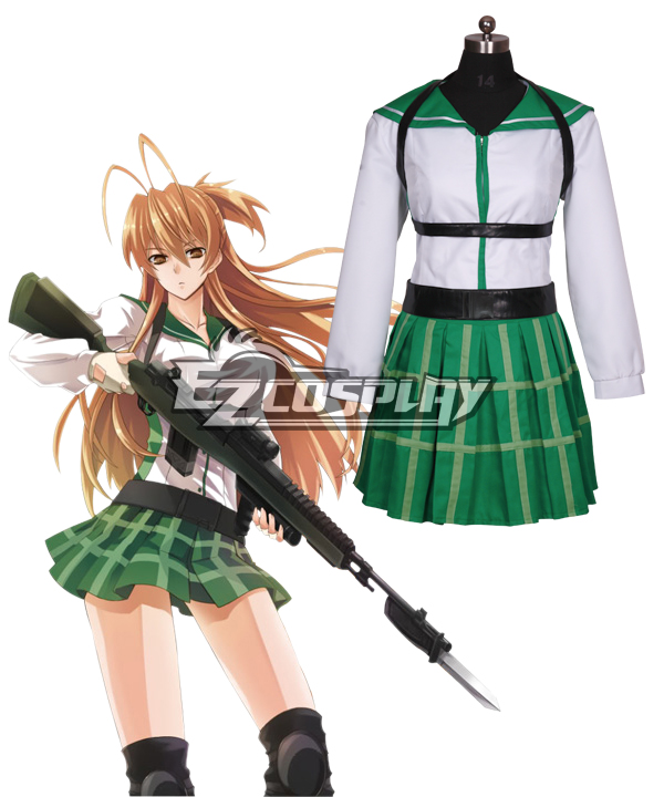 High School of the Dead Miyamoto Rei Fight Cosplay Costume