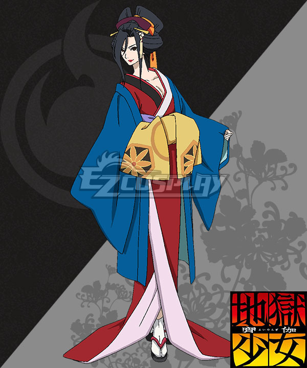 Anime Costumes EHL0009 Hell Girl: Yoi no Togi Honeonna Cosplay Costume