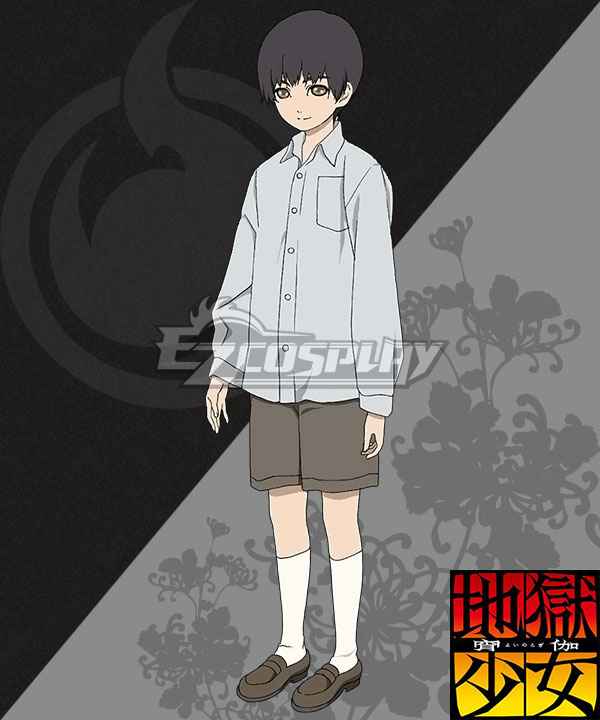 Anime Costumes EHL0012 Hell Girl: Yoi no Togi Yamawaro Cosplay Costume