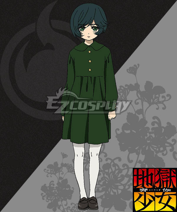 Anime Costumes EHL0013 Hell Girl: Yoi no Togi Michiru Cosplay Costume