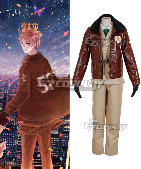 Axis Powers Hetalia American Alfred F Jones Cosplay Costume