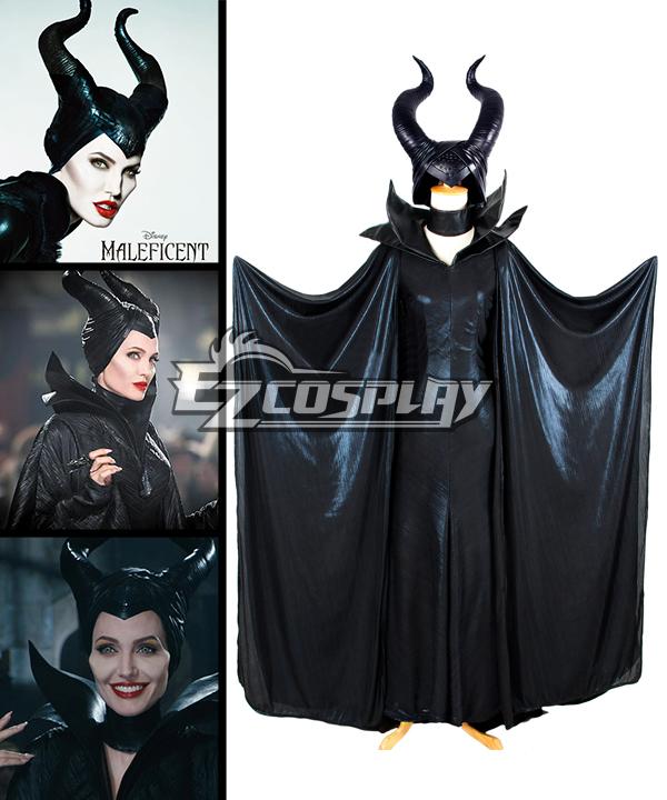 Maleficent Disney Movie Black Witch Angelina Jolie Cosplay Costume-Deluxe Ver.