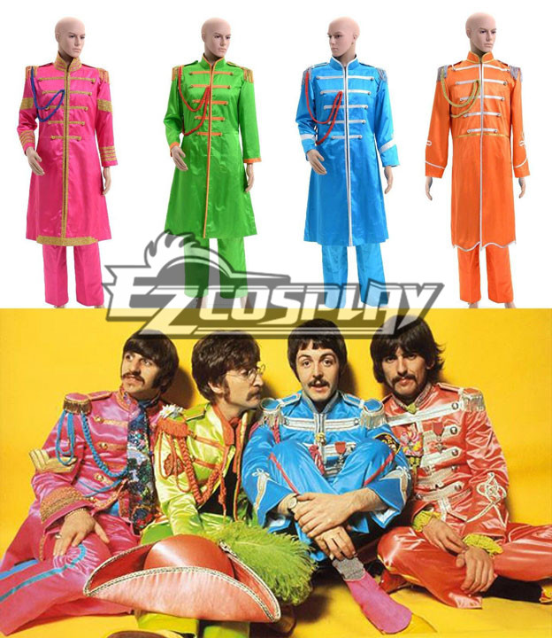 The Beatles Sgt. Pepper's Lonely Hearts Club Band Cosplay Costumes None
