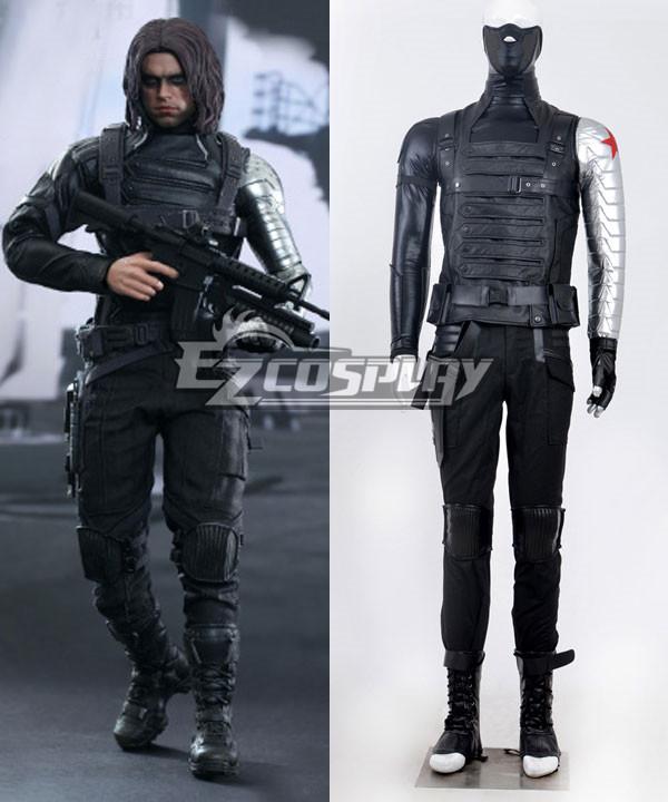 Marvel Avengers:2 the avengers alliance Captain America  Winter Soldier Bucky Barnes Cosplay Costume Deluxe Version None