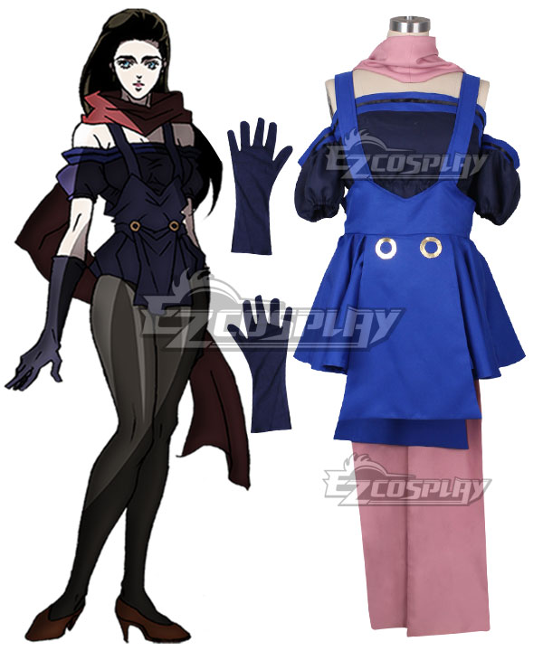 Anime Costumes EJJ018 JoJo's Bizarre Adventure Lisa Lisa Cosplay Costume(New Edition)