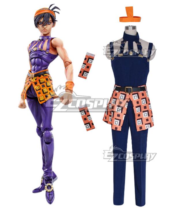 Anime Costumes EJJ019 JoJo's Bizarre Adventure Narancia Ghirga Cosplay Costume