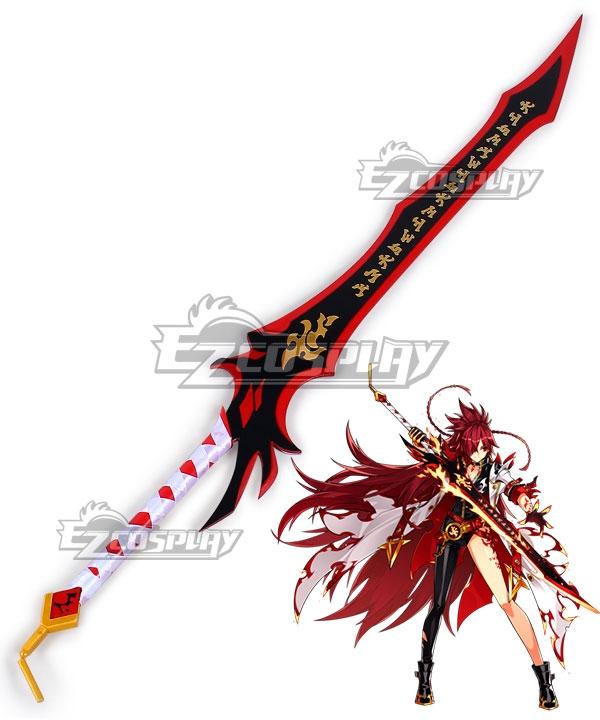 Elsword Elesis Flame Lord Sword Cosplay Weapon Prop