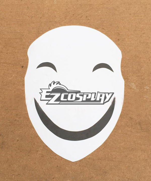 Black Bullet Hiruko Kagetane antagonist Promoter  Initiator White Smile Mask Man Cosplay  Accessories None