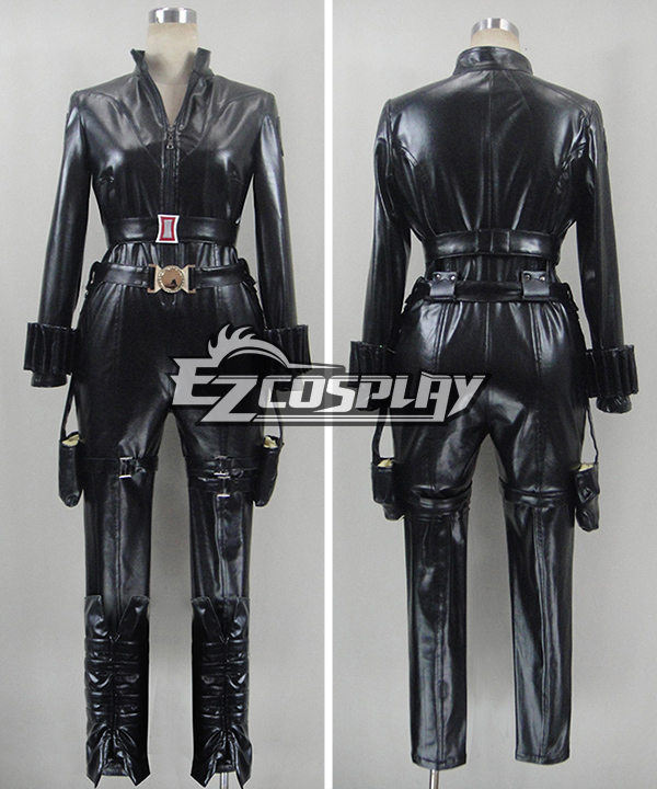 The Avengers Captain America 2 Black Widow Cosplay Costume