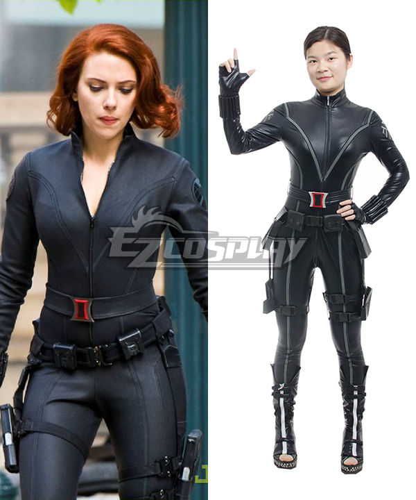 New Captain America 2 Avengers Black Widow Natasha Romanoff Cosplay Costume